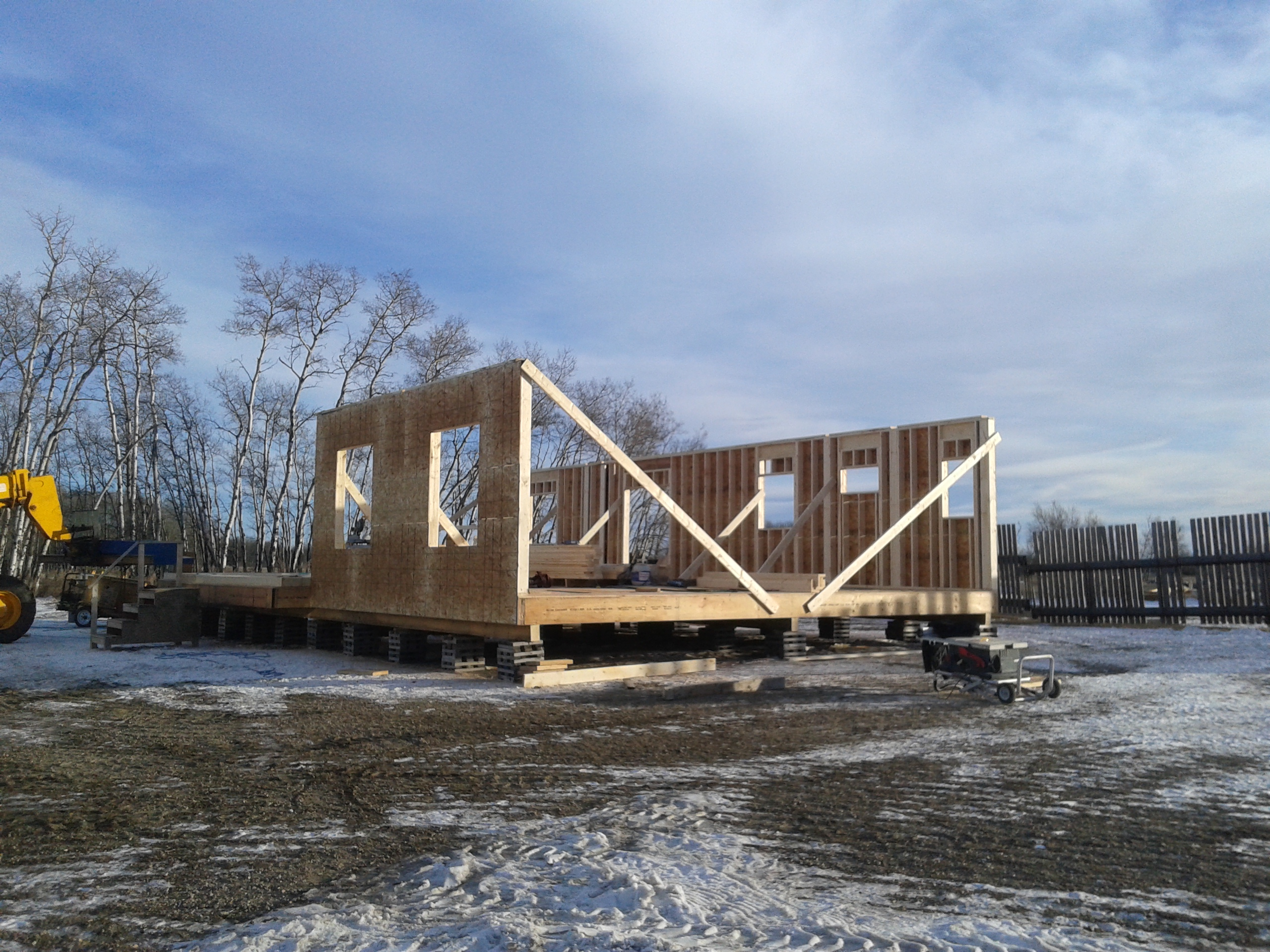 Build an RTM home in the winter
